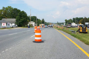 Eastern Shore Gas relocation at McIntire Drive (August 2019)