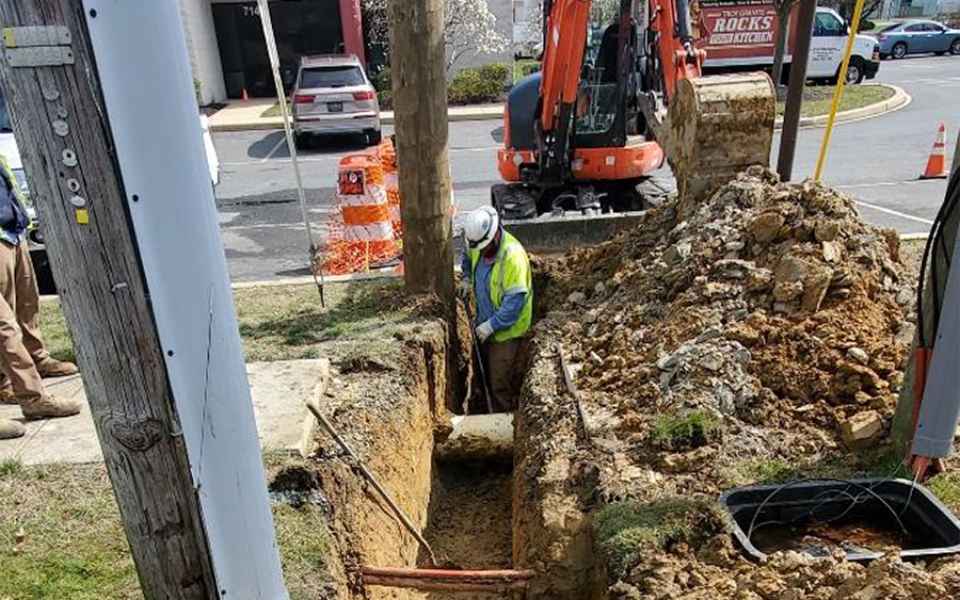 City of Newark electric riser relocation (March 2020)