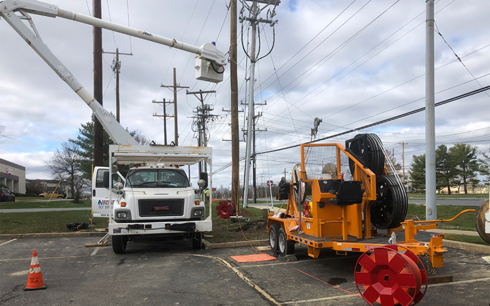 Delmarva Power - Semper Utilities pulling new line - March 2020
