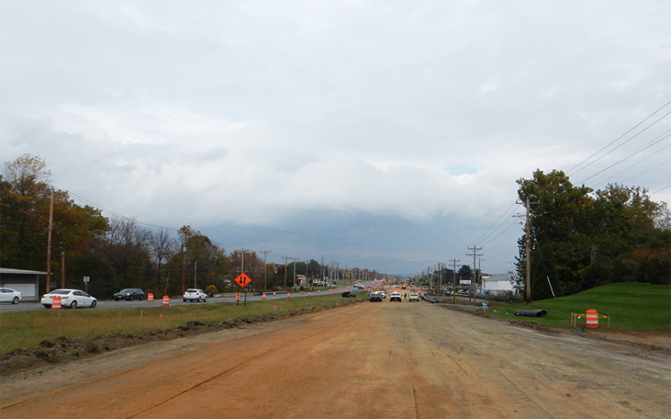 Elkton Rd at McIntire Dr_Pavement Removal - Looking North