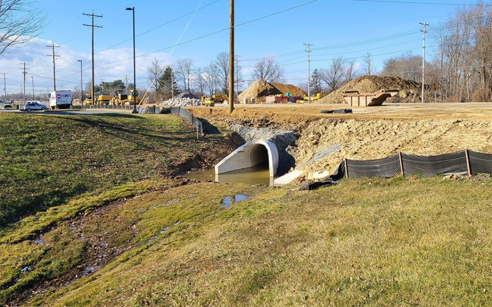 Northbound Elkton Rd – Drainage Outfall Installed