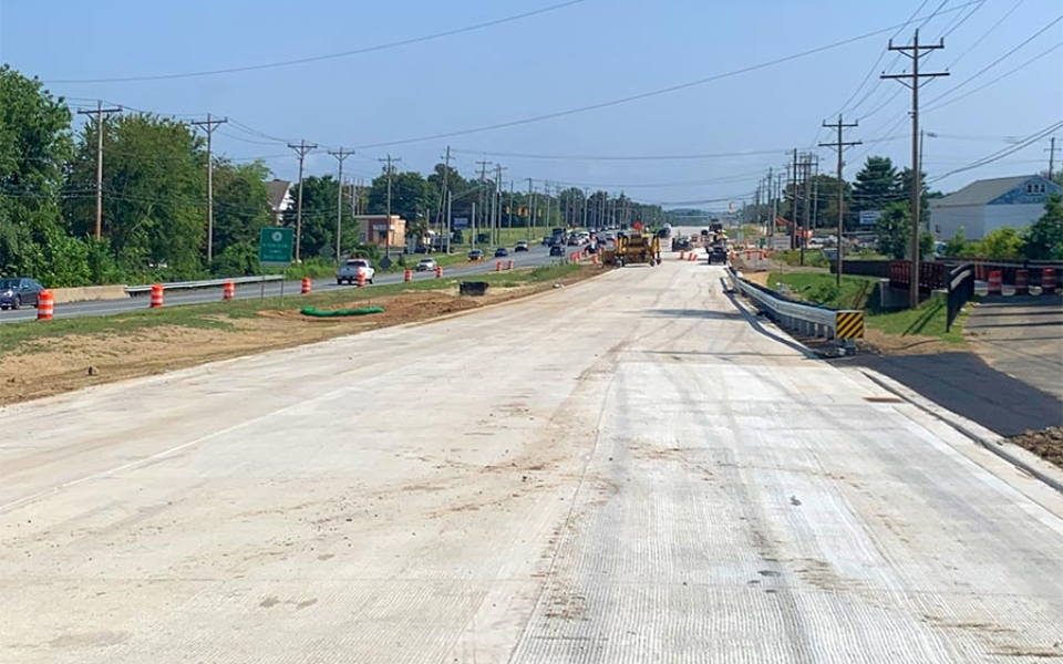 NB Elkton Rd at McIntire Dr Concrete Pavement- Looking North
